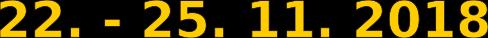 Datum - Sýry 4 dny - komplet - 22. - 25.11.2018